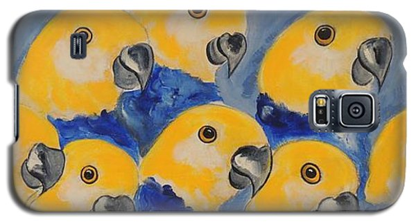 Pale Head Parrots Galaxy S5 Case by Lyn Olsen