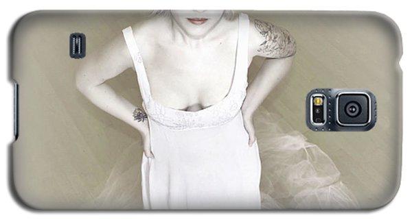 Pale Minimalist Bride Galaxy S5 Case