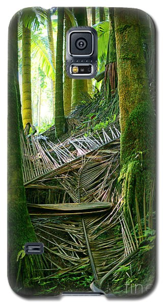 Galaxy S5 Case featuring the photograph Palm Forest by Ellen Cotton