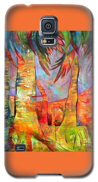 Galaxy S5 Case featuring the painting Palm Jungle by Elizabeth Fontaine-Barr