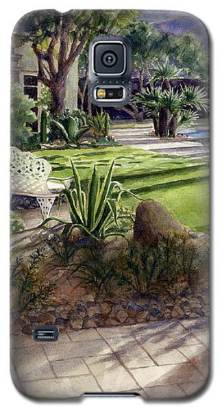 Galaxy S5 Case featuring the painting Palm Springs Backyard by Janet King