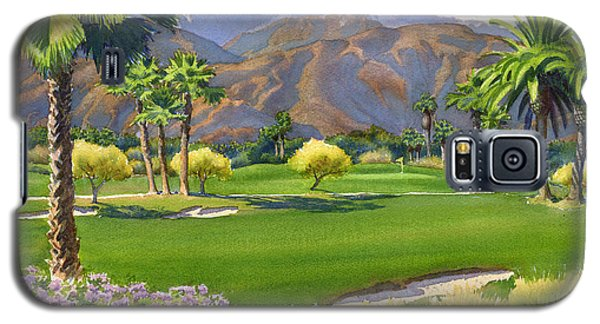 Palm Springs Golf Course With Mt San Jacinto Galaxy S5 Case by Mary Helmreich