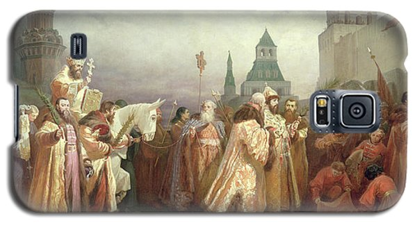 Palm Sunday Procession Under The Reign Of Tsar Alexis Romanov Galaxy S5 Case by Viatcheslav Grigorievitch Schwarz