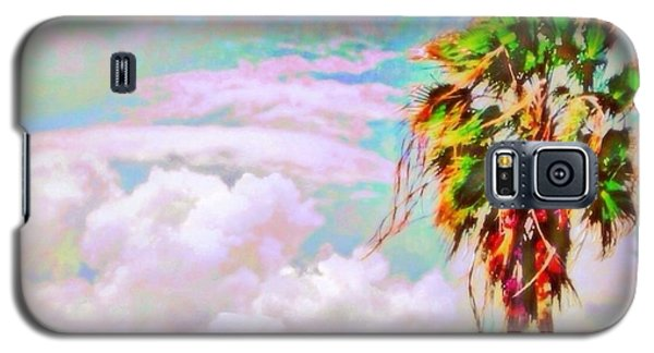 Palm Tree Against Pastel Sky - Square Galaxy S5 Case