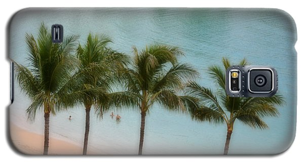 Palm Tree Lagoon Galaxy S5 Case