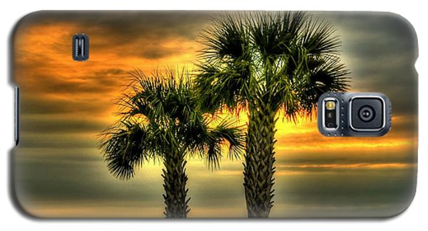 Palm Tree Sunrise Galaxy S5 Case by Ed Roberts