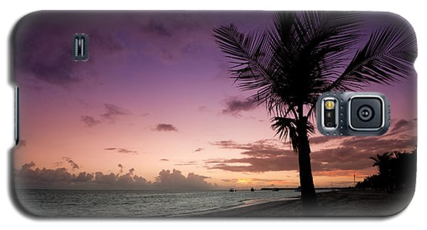 Palm Tree Sunrise Galaxy S5 Case by Sebastian Musial