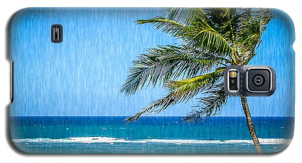 Palm Tree Swaying Galaxy S5 Case by TK Goforth