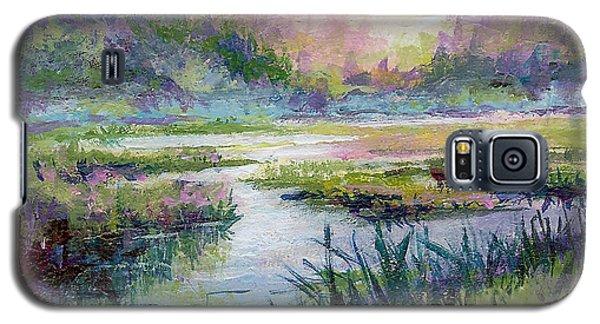 Galaxy S5 Case featuring the painting Palmer Hayflats by Karen Mattson