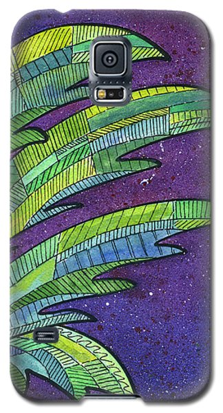 Banana Galaxy S5 Case - Palms Against The Night Sky by Diane Thornton