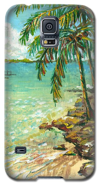 Palms On Point Of Rocks Galaxy S5 Case by Lou Ann Bagnall