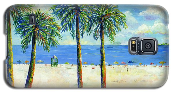 Palms On Siesta Key Beach Galaxy S5 Case by Lou Ann Bagnall