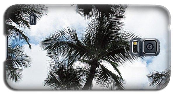 Galaxy S5 Case featuring the photograph Palms by Vikki Bouffard