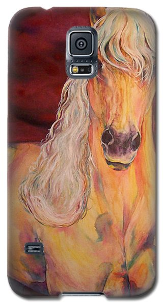 Galaxy S5 Case featuring the painting Palomino Ruby  by Christy  Freeman