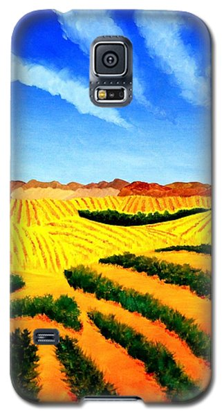 Galaxy S5 Case featuring the painting Palouse by Thomas Gronowski