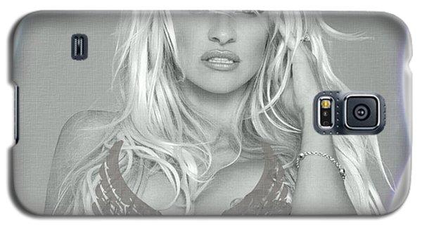 Pamela Anderson - Angel Rays Of Light Galaxy S5 Case by Absinthe Art By Michelle LeAnn Scott