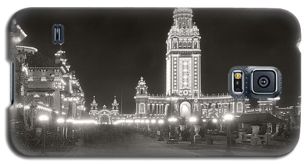 Galaxy S5 Case featuring the photograph Pan Am Night Tower 1901 by Martin Konopacki Restoration