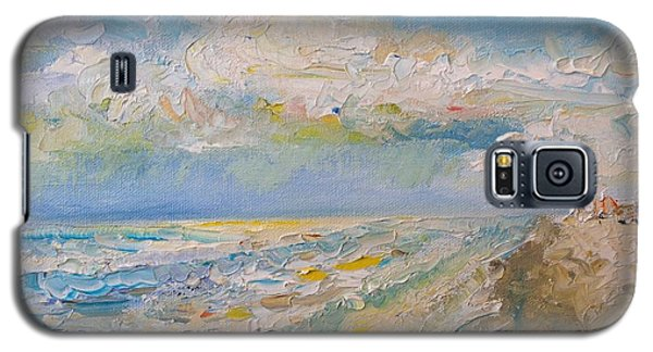 Galaxy S5 Case featuring the painting Panama City Beach by Alan Lakin