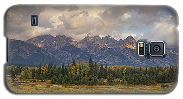 Panaroma Clearing Storm On A Fall Morning In Grand Tetons National Park Galaxy S5 Case