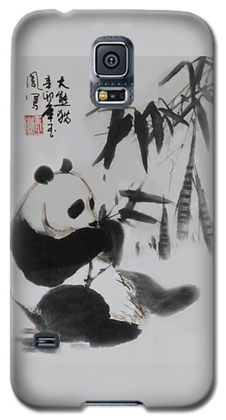 Panda And Bamboo Galaxy S5 Case by Yufeng Wang