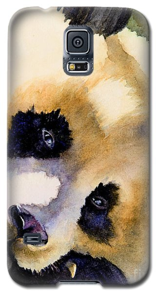 Galaxy S5 Case featuring the painting Panda Cub by Bonnie Rinier