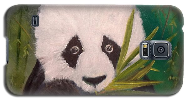 Galaxy S5 Case featuring the painting Panda by Jenny Lee