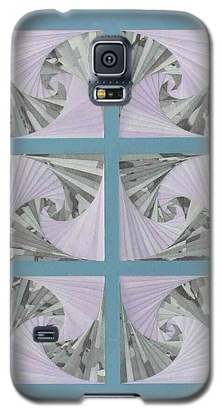Galaxy S5 Case featuring the mixed media Panes by Ron Davidson