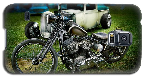 Panhead Harley And Ford Pickup Galaxy S5 Case
