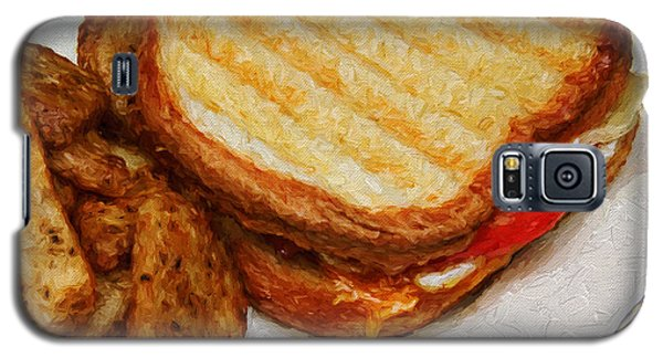 Galaxy S5 Case featuring the photograph Panini Sandwich And Potato Wedges 2 by Andee Design