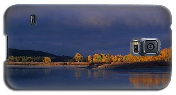 Galaxy S5 Case featuring the photograph Panorama Clearing Storm Oxbow Bend Grand Tetons National Park Wyoming by Dave Welling