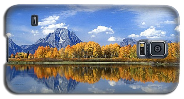 Panorama Fall Morning At Oxbow Bend Grand Tetons National Park Galaxy S5 Case