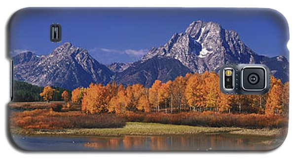 Galaxy S5 Case featuring the photograph Panorama Fall Morning Oxbow Bend Grand Tetons National Park Wyoming by Dave Welling