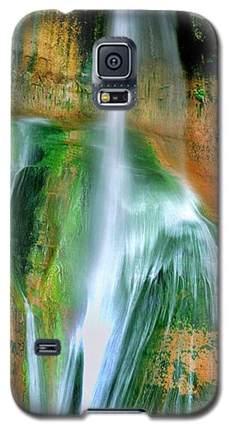 Galaxy S5 Case featuring the photograph Panorama Lower Calf Creek Falls Escalante Nm Utah by Dave Welling