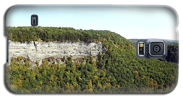 Panorama Of Cliff At Letchworth State Park Galaxy S5 Case