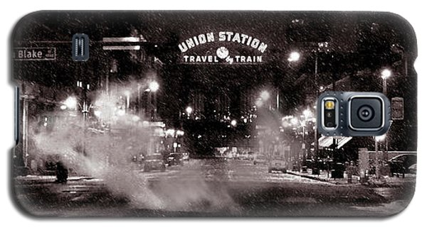 Panorama Of Denver Union Station During Snow Storm Galaxy S5 Case by Ken Smith