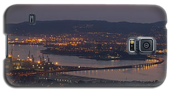 Galaxy S5 Case featuring the photograph Panorama Of Ferrol From Mount Marraxon Galicia Spain by Pablo Avanzini