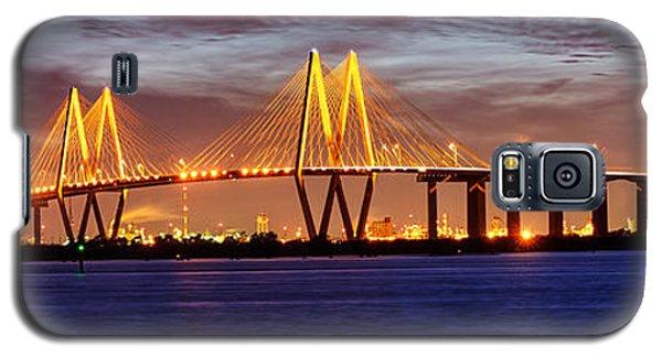 Panorama Of Fred Hartman Bridge Galaxy S5 Case