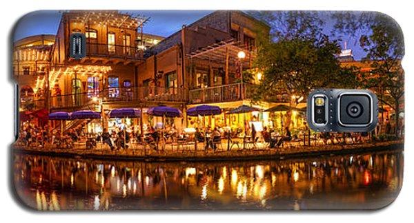 Panorama Of San Antonio Riverwalk At Dusk - Texas Galaxy S5 Case