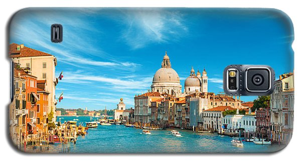 Panorama Of The Basilica Santa Maria Della Salute Galaxy S5 Case by Gurgen Bakhshetsyan