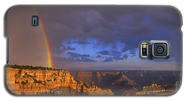 Galaxy S5 Case featuring the photograph Panorama Rainbow Over Cape Royal North Rim Grand Canyon National Park by Dave Welling