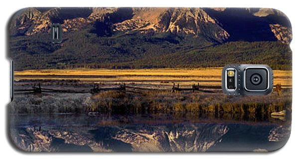 Galaxy S5 Case featuring the photograph Panorama Reflections Sawtooth Mountains Nra Idaho by Dave Welling