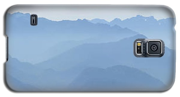 Galaxy S5 Case featuring the photograph Panorama View Of The Bavarian Alps by Rudi Prott