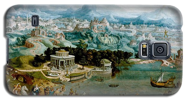 Panorama With The Abduction Of Helen Amidst The Wonders Of The Ancient World Galaxy S5 Case