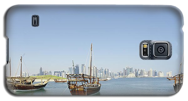 Panoramic Dhows And Qatar Skyline Galaxy S5 Case