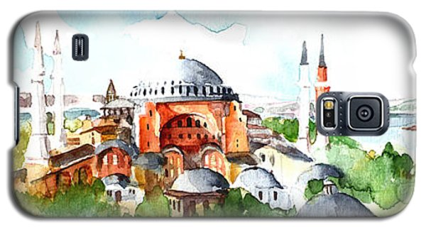 Panoramic Hagia Sophia In Istanbul Galaxy S5 Case by Faruk Koksal
