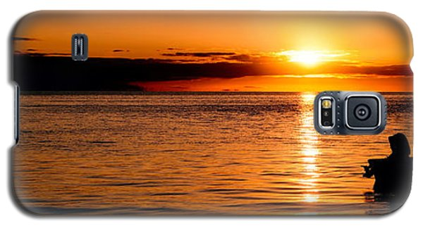 Panoramic Photo Of Sunrise At Monkey Mia Of Australia Galaxy S5 Case