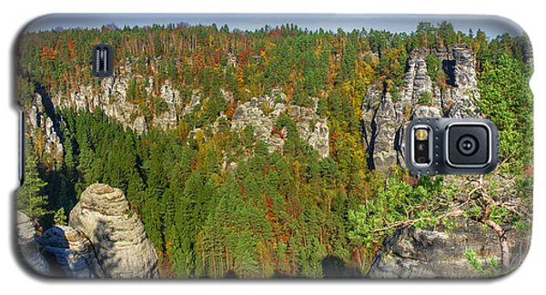 Panoramic View Of The Elbe Sandstone Mountains Galaxy S5 Case