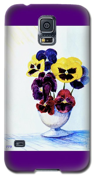 Pansies Galaxy S5 Case