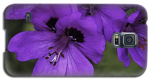Pansies In Purple Galaxy S5 Case