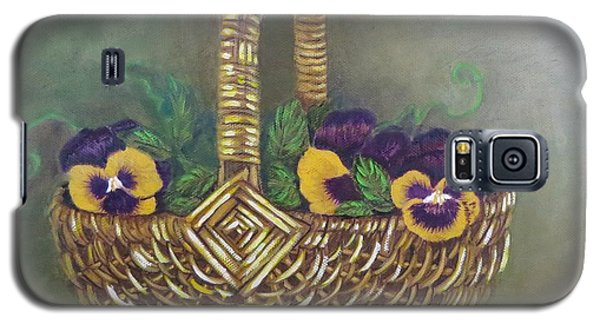 Pansy Basket Sherry Nelson Study Galaxy S5 Case by Sharon Schultz